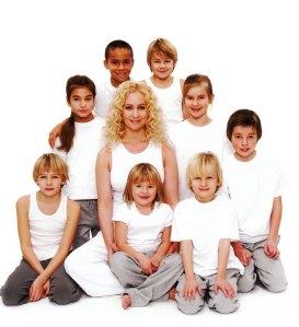 Junioryoga grupp